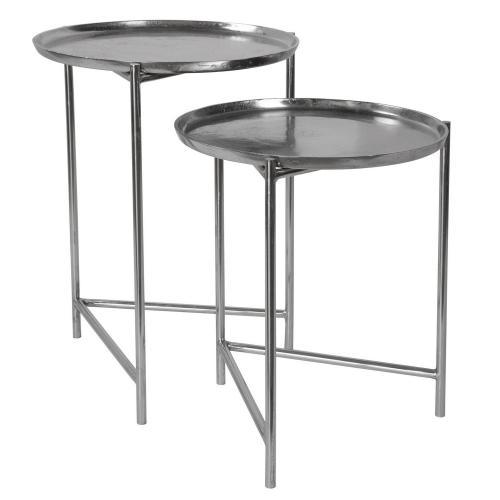 Burnett Nesting Tables - Set of 2 - Nickel