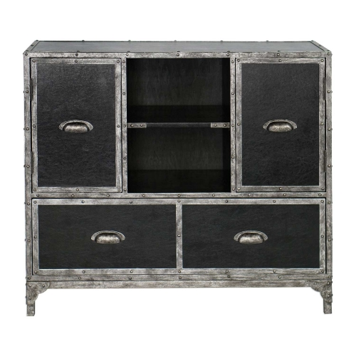 Shawn Accent Chest - Black Leather