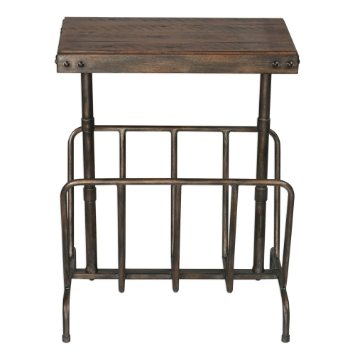 Sonora Industrial Magazine Side Table