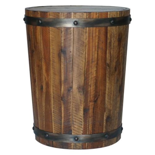 Ceylon Accent Table - Wine Barrel