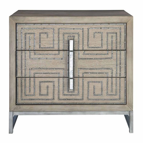 Devya Accent Chest - Gray Oak
