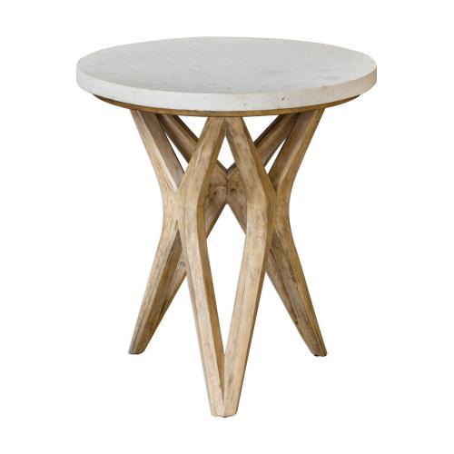 Marnie Side Table - Limestone