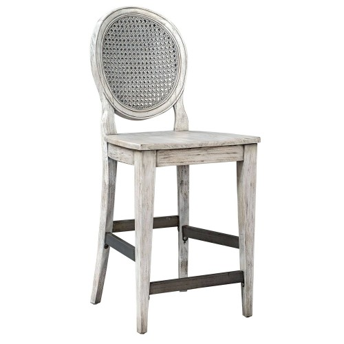 Clarion Counter Stool - Aged White