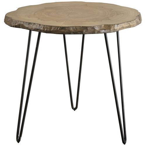 Runay Wood Slab Side Table