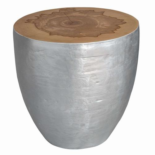 Gannett Wood End Table - Silver