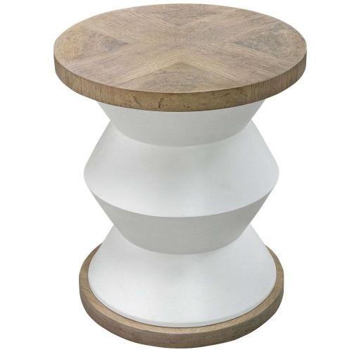 Spool Geometric Side Table