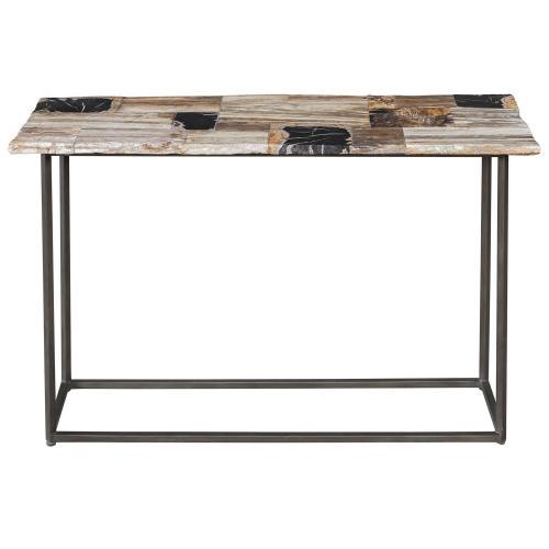 Iya Petrified Wood Console Table