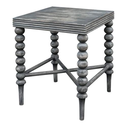 Kunja End Table - Grey