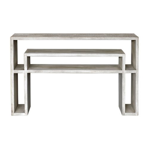 Genara Bone Carved Console Table - White
