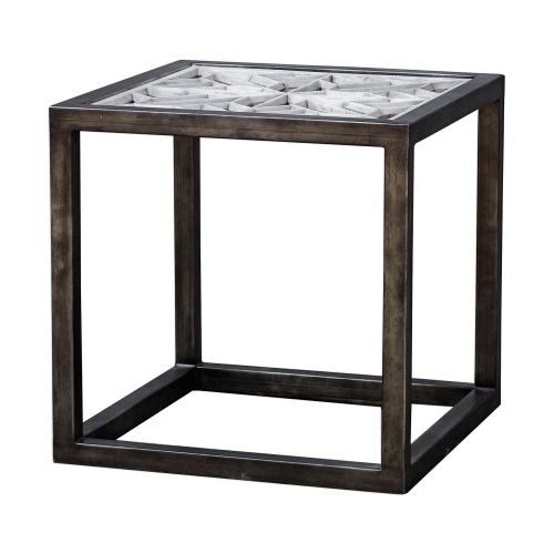 Baruti End Table - Iron Frame