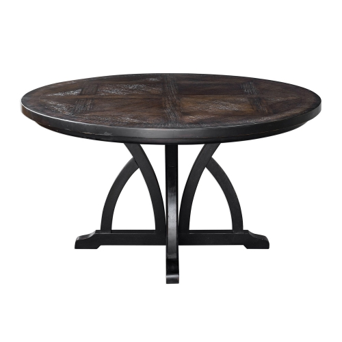 Maiva Round Dining Table - Black