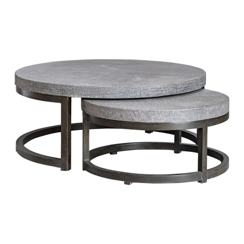 Aiyara Nesting Tables - Set of 2 - Gray
