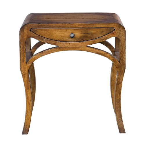 Cheryth End Table - Pecan