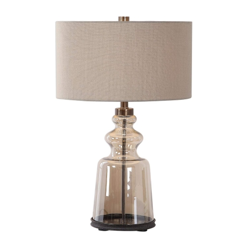 Irving Table Lamp - Amber Glass