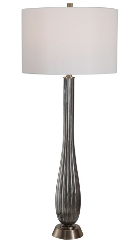 Reeve Table Lamp - Gray Glass