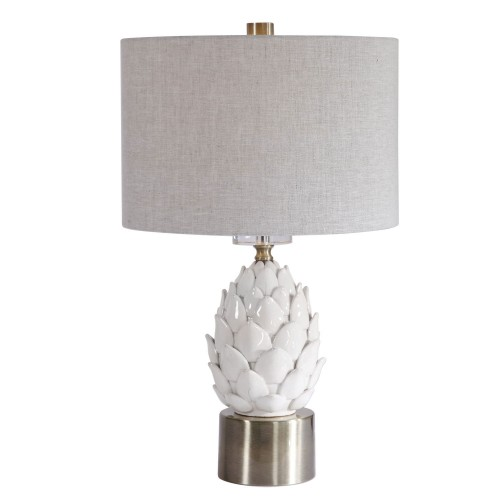 White Table Lamp - Artichoke