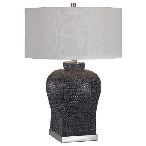 Akello Table Lamp - Weave Texture