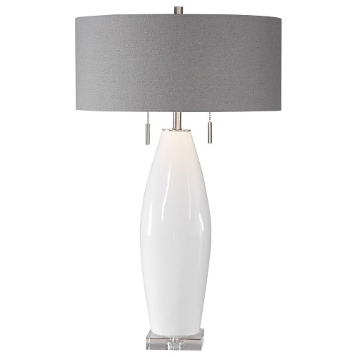 Laurie Table Lamp - White Ceramic