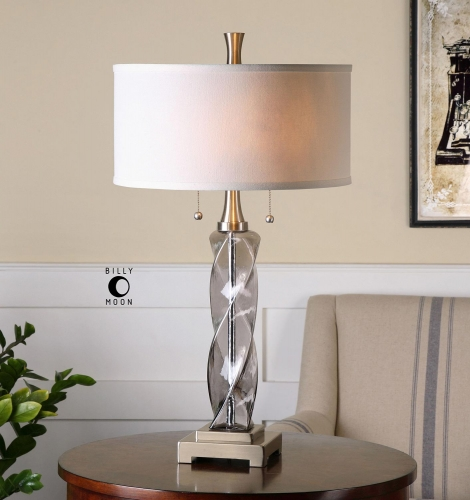 Spirano Gray Glass Table Lamp