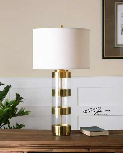 Angora Brushed Brass Table Lamp