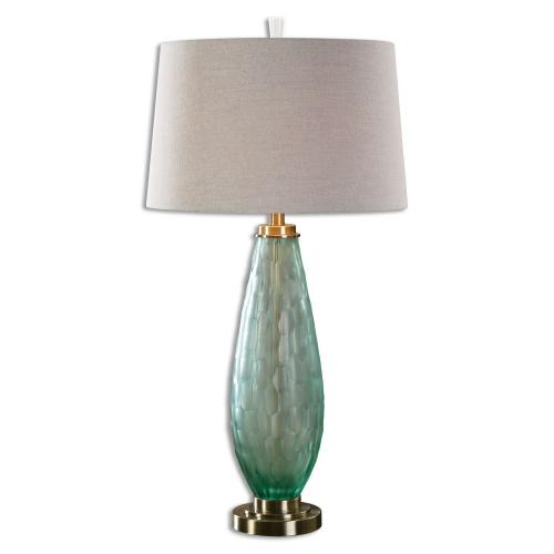 Lenado Glass Table Lamp - Sea Green