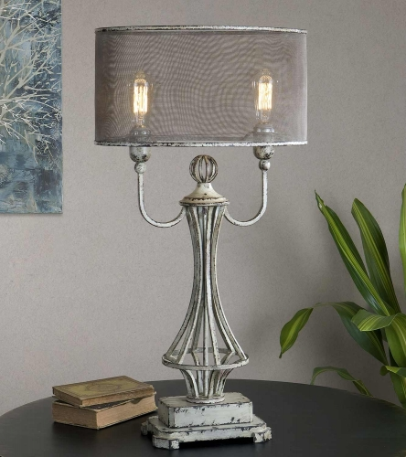 Pontoise Aged Ivory Table Lamp