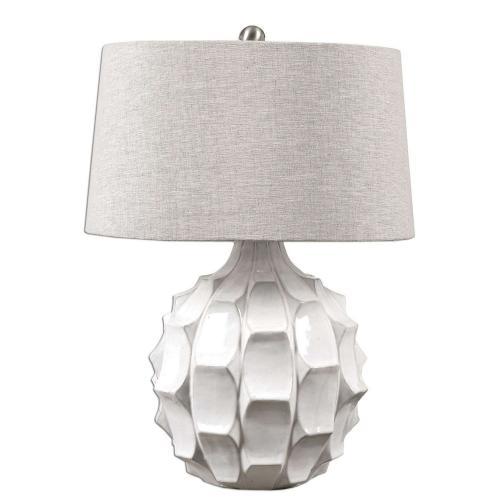 Guerina Lamp - Scalloped White