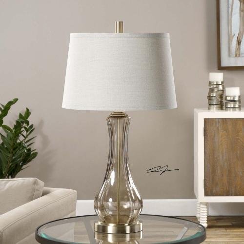 Cynthiana Smoke Gray Glass Lamp