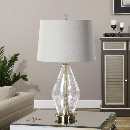 Spezzano Crackled Glass Lamp
