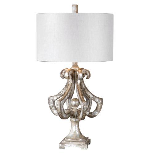 Vinadio Table Lamp - Distressed Silver