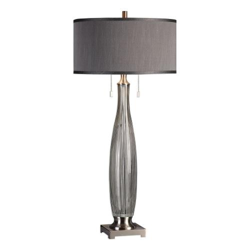 Coloma Glass Table Lamp - Gray