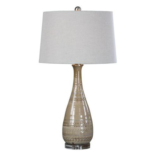 Nakoda Embossed Ceramic Lamp