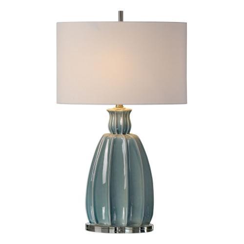 Suzanette Ceramic Lamp - Sky Blue