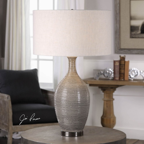 Dinah Gray Textured Table Lamp