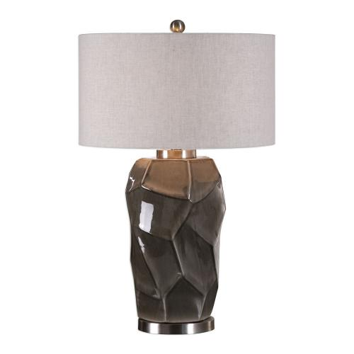 Crayton Crackled Table Lamp - Gray