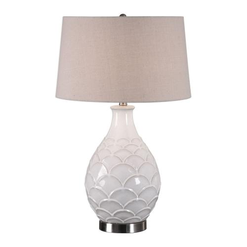 Camellia Table Lamp - Glossed White