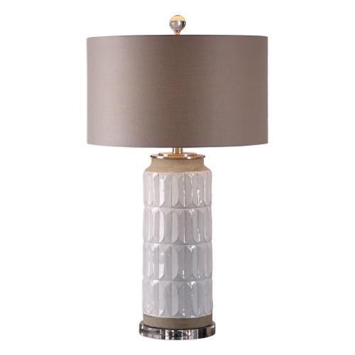 Athilda Table Lamp - Gloss White