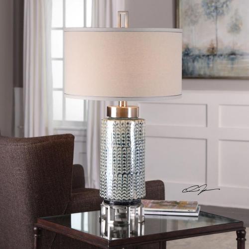 Vanora Cerulean Table Lamp - Blue