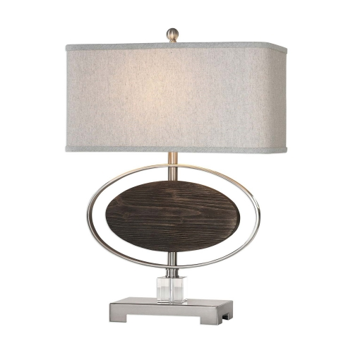 Malik Wood Oval Lamp