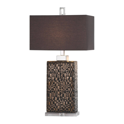 Olavo Etched Lamp - Dark Bronze