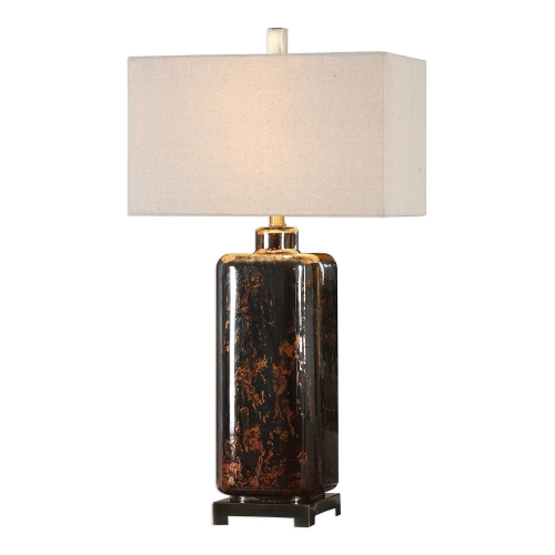 Vanoise Mercury Glass Lamp - Bronze