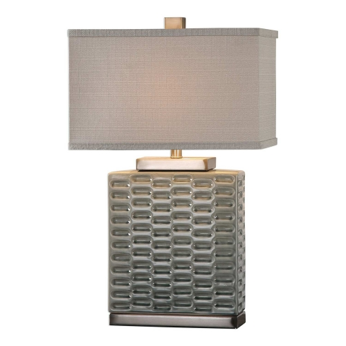 Virelles Ceramic Lamp - Sage Gray