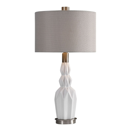Cabret Table Lamp - Gloss White