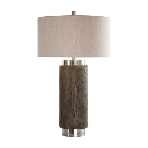 Cheraw Wood Cylinder Lamp