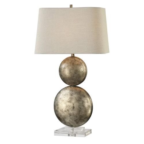 Ordona Silver Lamp - Antiqued Metallic