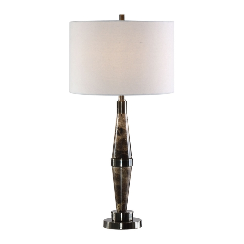 Maston Marble Lamp - Black Brown