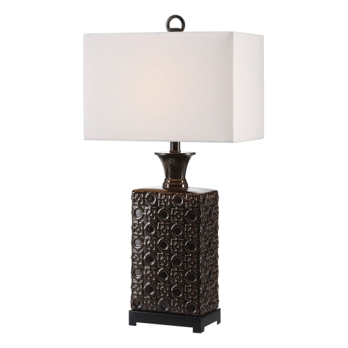 Bertoia Lamp - Black Patterned