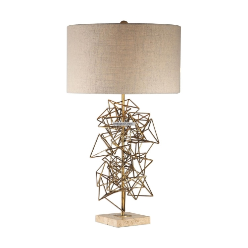 Vasaya Table Lamp - Abstract Gold
