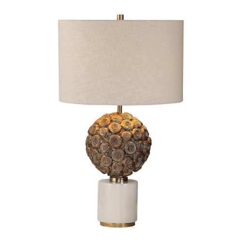 Taro Lamp - Aged Gold