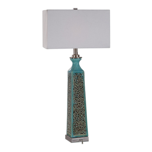 Camille Table Lamp - Turquoise